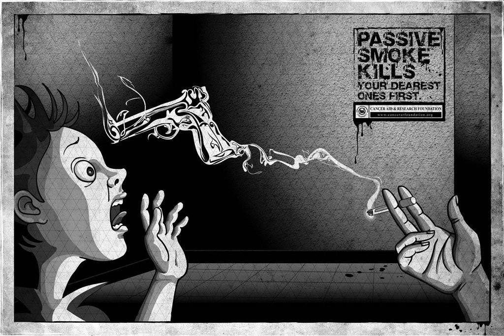 cancer-foundation-gun-anti-passive-smoking-campaign